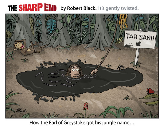 Caption: How the Earl of Greystoke got his jungle name...