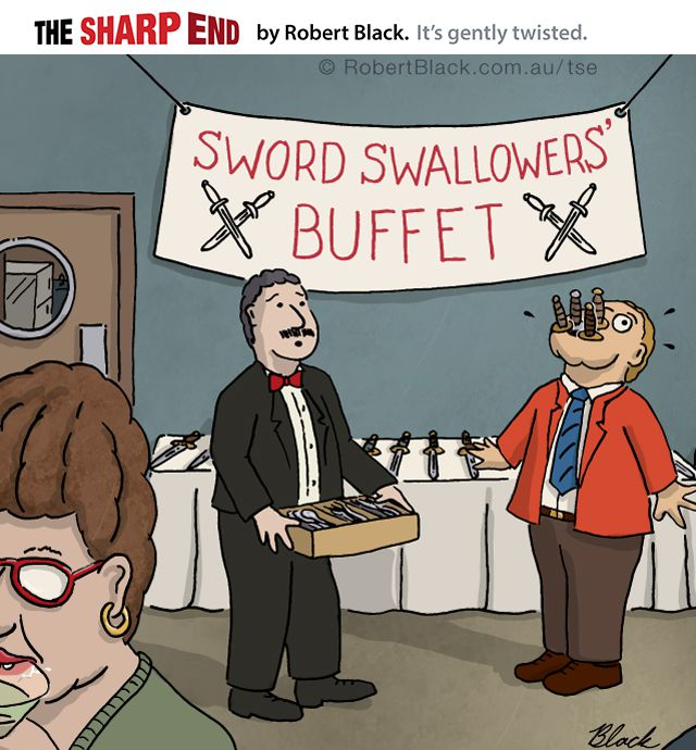 Caption: Sometimes, 'All you can eat' is a double-edged sword.