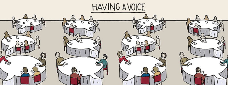 Caption: Having a Voice