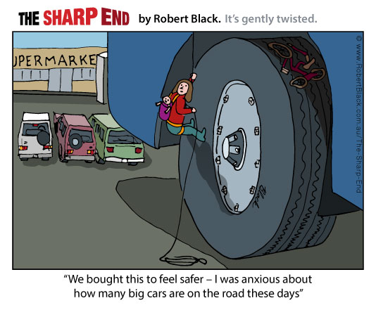 Caption: We bought this to feel safer – I was anxious about how many big cars are on the road these days