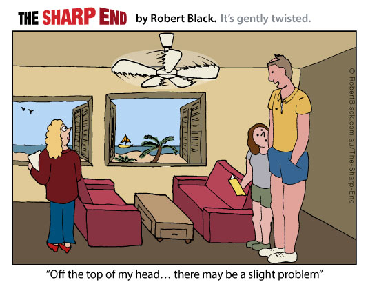 Caption: Off the top of my head... there may be a slight problem