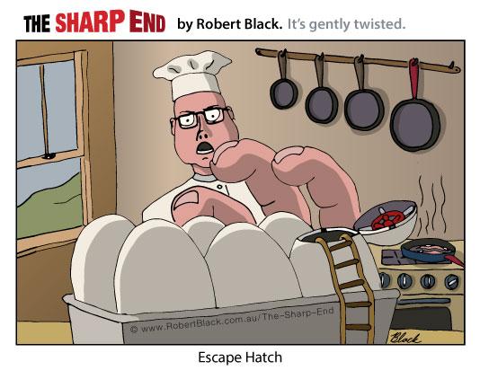 Caption: Escape Hatch