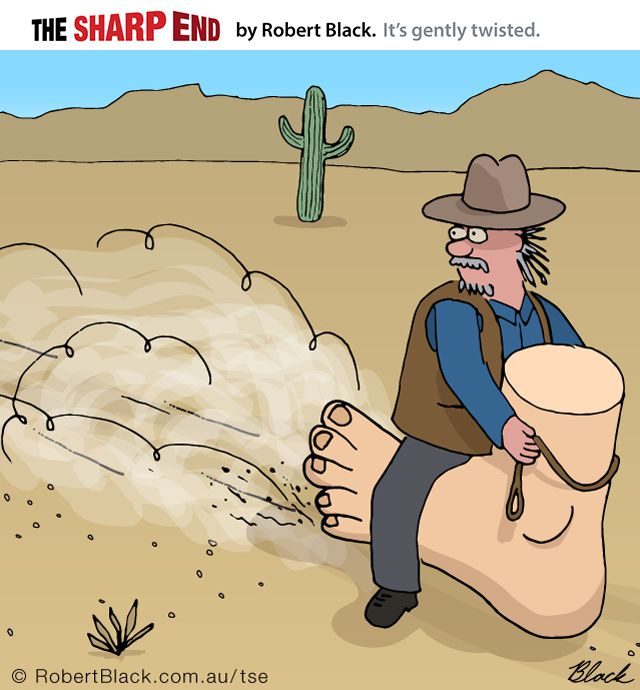 Caption: Jeb made his daring escape from the sheriff on foot...