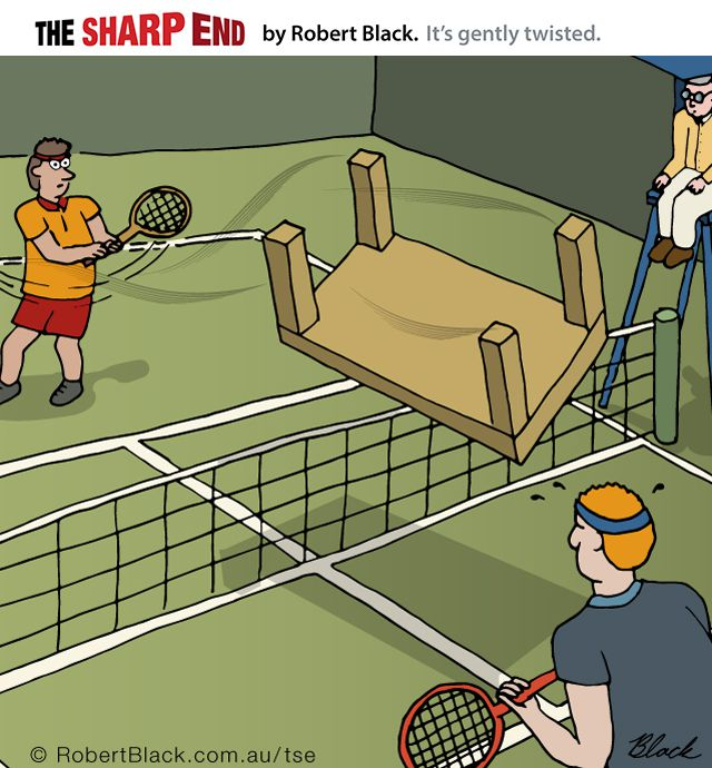 Caption: Extreme Sports #5 – Table Tennis