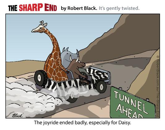 Caption: The joyride ended badly, especially for Daisy.