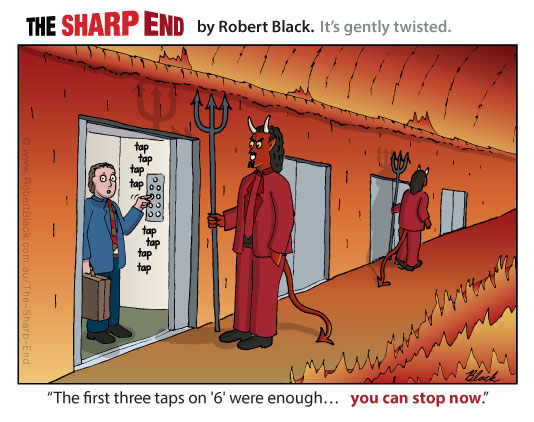 Caption: The first three taps on '6' were enough...   you can stop now.