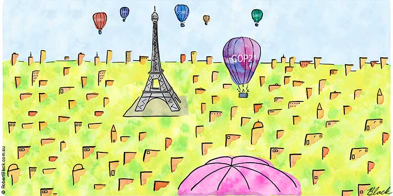 Hot Air enters Paris